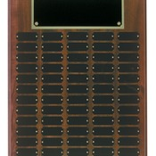 CPP60 Cherry Finish Perpetual Plaque with 60 Plates