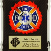 HER102  Firefighter/Medical/EMT HERO Plaque