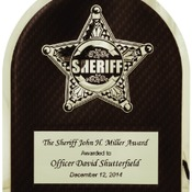 HER104  Sheriff HERO Plaque with Chrome Star