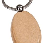 GFT502M  Maple Finish Oval Keychain