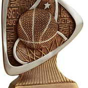 "TRD102 5-1/2"" Triad Resin Basketball Trophy"