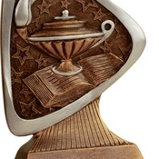 "TRD107 5-1/2"" Triad Resin Lamp of Knowledge Trophy"