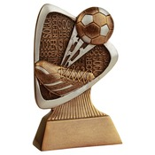 "TRD109 5-1/2"" Triad Resin Soccer Trophy"