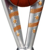 "FFR202 8"" Fanfare Resin Basketball Trophy"