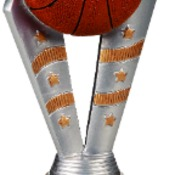 "FFR102 6-1/2"" Fanfare Resin Basketball Trophy"