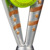 "FFR205  8"" Fanfare Resin Softball Trophy"