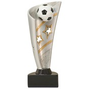 "BNN37   8-1/2"" Banner Resin Soccer Trophy"