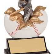 "XP101   5-1/4"" Xploding Resin Male Baseball Trophy"