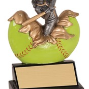 "XP110   5-1/4"" Xploding Resin Female Softball Trophy"