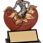 "XP103   5-1/4"" Xploding Resin Female Basketball Trophy"