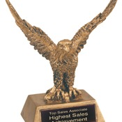 "JDS952   6-1/2"" Eagle Resin Trophy"