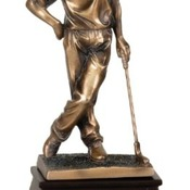 "GSN01   9"" Bronze Golf Resin Male"