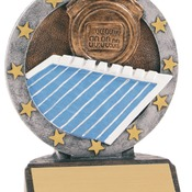 "R615   4-1/2"" All Star Resin Swimming Trophy"