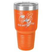 LTM7312-Polar Camel 30 oz. Orange Ringneck Vacuum Insulated Tumbler w/Clear Lid