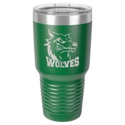 LTM7315-Polar Camel 30 oz. Green Ringneck Vacuum Insulated Tumbler w/Clear Lid