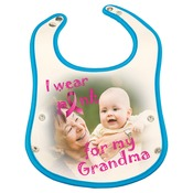 SBL126  Blue Baby Bib with Snaps
