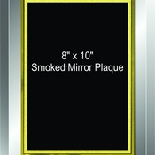 "3502 8"" x 10"" Smoked Mirror Beveled Glass Plaque"