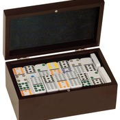 DOM01  Double Twelves Domino's Set in Black Gift Box DOM01