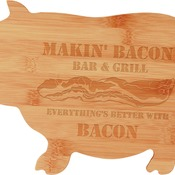 GFT132  Bamboo Pig Shaped Cutting Board
