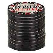 SBL079  Black Edge 2-Sided Plastic/Ceramic Poker Chips