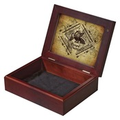 UN5690  2-Sided Mahogany Box with Insert