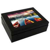 UN5989  Keepsake Espresso Black Box with Gloss Hardboard Insert