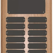 OPP12 - 12 Plate Oak Finish Completed Perpetual Plaque