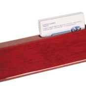 "PNA48 - 8 1/2"" Rosewood Piano Finish Desk Wedge with Business Card Holder"