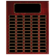 RPP60  Rosewood Piano Finish Perpetual Plaque with 60 Plates