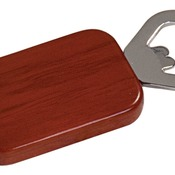 GFT505R  Rosewood Finish Magnetic Rectangle Bottle Opener