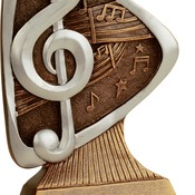 "TRD108  5-1/2"" Triad Resin Music Trophy"