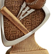 "TRD110 5-1/2"" Triad Resin Softball Trophy"