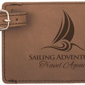 GFT180 Dark Brown Leatherette Luggage Tag