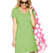 3522  Women's V-Neck Fine Jersey Coverup