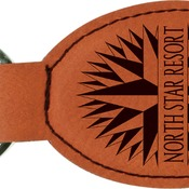 GFT262 Rawhide Leatherette Oval Keychain