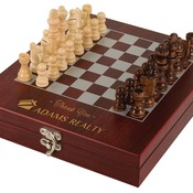 CHES01  Rosewood Finish Chess Set CHES01