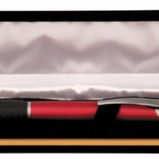 CS103  Black Velvet Lined Pen Case