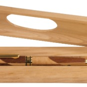 CS205  Maple & Rosewood Finish Magnetic Pen Case
