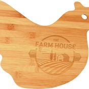 GFT131  Bamboo Hen Shaped Cutting Board