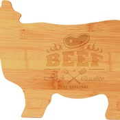 GFT133  Bamboo Cow Shaped Cutting Board