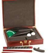 GLF01  Rosewood Finish Executive Golf Gift Set