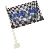 SBL046  2-Sided Car Flag with Pole