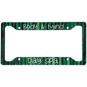 UN4566  Gloss Aluminum License Plate Frame