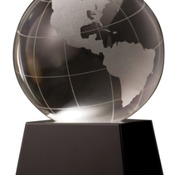 "IR-CRY037   3"" Crystal Globe on Black Base"
