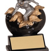 "XP105   5-1/4"" Xploding Resin Female Bowling Trophy"