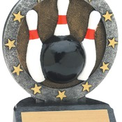 "R611  4-1/2"" All Star Resin Bowling Trophy"
