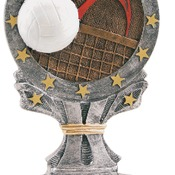 "R658   6-1/4"" All Start Resin Volleyball Trophy"